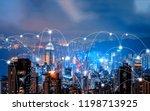 digital network connection... | Shutterstock . vector #1198713925