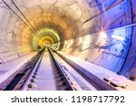 inside of railway tunnel... | Shutterstock . vector #1198717792