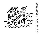 rats desert a sinking ship.... | Shutterstock .eps vector #1198723288