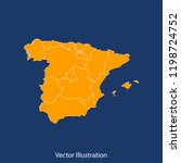 spain map   high detailed color ... | Shutterstock .eps vector #1198724752