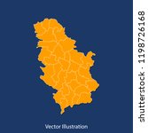 serbia map   high detailed... | Shutterstock .eps vector #1198726168