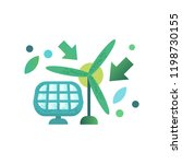 green energy windmill and solar ... | Shutterstock .eps vector #1198730155