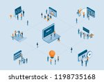 isometric business project... | Shutterstock .eps vector #1198735168