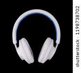 musical equipment   white blue... | Shutterstock . vector #1198738702