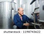 positive mature man working... | Shutterstock . vector #1198743622