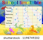 school timetable with marine... | Shutterstock .eps vector #1198749202