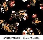 stock vector seamless flower ... | Shutterstock .eps vector #1198750888
