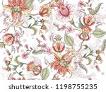 tropical fantasy floral... | Shutterstock .eps vector #1198755235