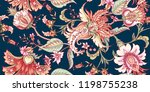 tropical fantasy floral... | Shutterstock .eps vector #1198755238
