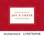 christmas design with red... | Shutterstock .eps vector #1198756948