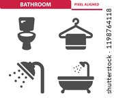 bathroom icons. professional ... | Shutterstock .eps vector #1198764118