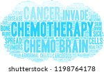 chemotherapy word cloud on a... | Shutterstock .eps vector #1198764178