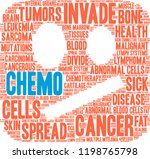 chemo word cloud on a white... | Shutterstock .eps vector #1198765798