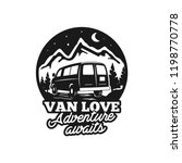 vintage hand drawn camp logo... | Shutterstock .eps vector #1198770778