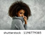 portrait of young african...   Shutterstock . vector #1198779385
