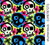 skull funky boys and girls... | Shutterstock .eps vector #1198787272