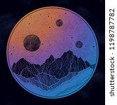 hand drawn extraterrestrial...   Shutterstock .eps vector #1198787782