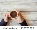 cup drink for breakfast in the... | Shutterstock . vector #1198789522