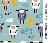 seamless pattern with cute... | Shutterstock .eps vector #1198801462
