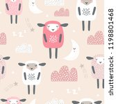seamless pattern with cute... | Shutterstock .eps vector #1198801468