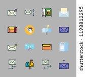 correspondence icon set. vector ...   Shutterstock .eps vector #1198812295