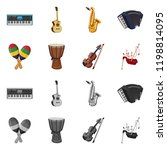 vector design of music and tune ... | Shutterstock .eps vector #1198814095
