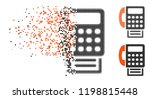 fax icon in dissipating  dotted ... | Shutterstock .eps vector #1198815448