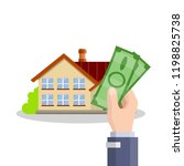 buy house. a big hand with...   Shutterstock .eps vector #1198825738
