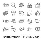 set of money line icons  such... | Shutterstock .eps vector #1198827535