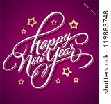 happy new year hand lettering   ... | Shutterstock .eps vector #119883748