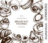breakfast pastries and desserts ... | Shutterstock .eps vector #1198838302