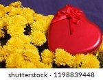 autumn flowers in a pot. yellow ...   Shutterstock . vector #1198839448