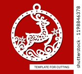 christmas decoration   lace... | Shutterstock .eps vector #1198846378