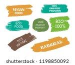organic  100  bio  eco  natural ...   Shutterstock .eps vector #1198850092