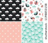 vector collection of cute... | Shutterstock .eps vector #1198853158