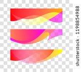 wavy gradient design element.... | Shutterstock .eps vector #1198854988