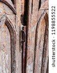 old wood door with peeling paint   Shutterstock . vector #1198855522