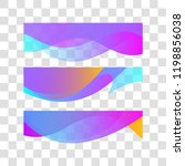 wavy gradient design element.... | Shutterstock .eps vector #1198856038