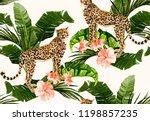 beautiful seamless vector... | Shutterstock .eps vector #1198857235