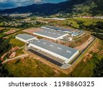 aerial view on logistic center... | Shutterstock . vector #1198860325
