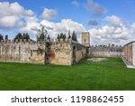 pisa city walls  erected in... | Shutterstock . vector #1198862455