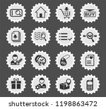 e commerce interface web icons... | Shutterstock .eps vector #1198863472