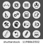 engineering web icons stylized... | Shutterstock .eps vector #1198863502
