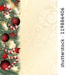 christmas background with green ... | Shutterstock .eps vector #119886406
