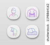 trauma treatment app icons set. ... | Shutterstock .eps vector #1198864162
