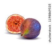 fresh  nutritious  tasty figs.... | Shutterstock .eps vector #1198869535