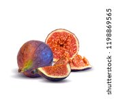fresh  nutritious  tasty figs.... | Shutterstock .eps vector #1198869565
