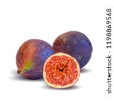 fresh  nutritious  tasty figs.... | Shutterstock .eps vector #1198869568