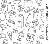 dairy product seamless pattern. ... | Shutterstock .eps vector #1198872055