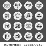courses web icons stylized... | Shutterstock .eps vector #1198877152